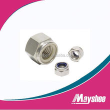 white zinc nylon lock hex nut