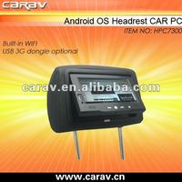 Car Headrest Android Tablet Support 3G With Software For Advertisement