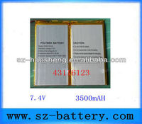 43116123 Rechargeable Btteries 7.4v 3500mah lithium polymer