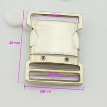 25mm adjustable metal side release buckle for bag strap