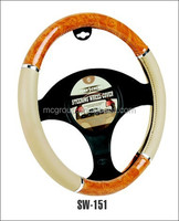 hot sell economical universal leather 38cm diameter car steering wheel cover