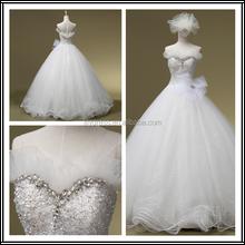 Sweetheart Neckline Crystal Beading Custom Made Long Formal Bridal Design Robe De Mariee HS273 bridal wedding gown photos