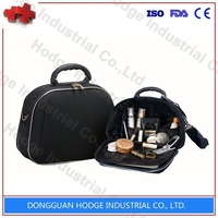Hot sale professional Leather Cosmetic Case/makeup bag