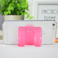 Smart multipurpose colorful name card with printing logo silicone cell phone holder