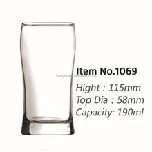 Customized waist drinking beer glass high ball tumbler leadfree crystal high quality popular model