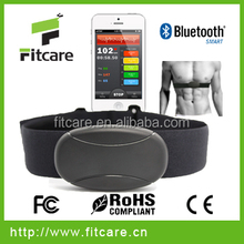 sports and fitness bluetooth heart rate sensor with chest belt from fitcare