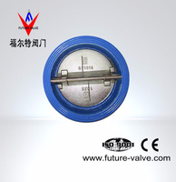 PN10/16 Cast Iron Dual Plate Wafer Type Check Valve