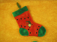 High quality plush christmas socks for 2013