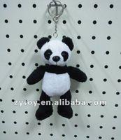 Cute plush animal doll panda Keychain