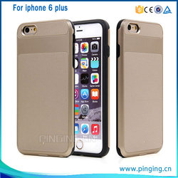 2 in 1 wholesale armor hybrid cell phone armor case cover for iphone 6 plus , for iphone 6 plus