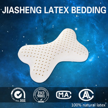 natural latex bone shape pillow for office workers and drivers