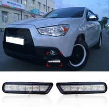 Auto 6 LED Car Fog Lamps Daytime Running Lights DRL For Mitsubishi ASX 2010 2011 2012
