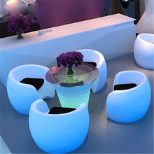 event lounge furniture PE rechargeable RGB color changeable IP68 Waterproof durable Remote Control Leisure Lounge Chair