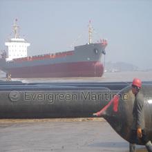 Evergreen o navio de lançamento airbags marinha usado em cingapura
