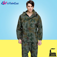 camouflage military raincoat for custom in jacket and pants