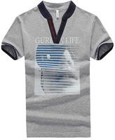 High Quality V-Neck Cotton Men t shirt manufacturer bangladesh