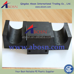 uhmwpe Pipe support parts, plastic pipe support, custom plastic parts manufacturer
