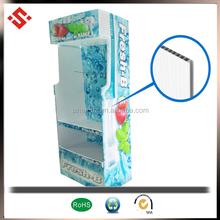 2015 pp plastic corrugated display stand & supermarket display stand