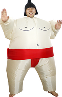 Advertising red inflatable fancy dress for advertising, inflatable sumo costume, costume sumo mousse--45795