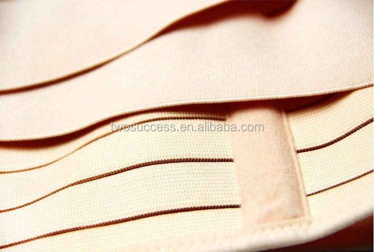 Medical elastic waist belt hook and loop fastener waist slimming belt