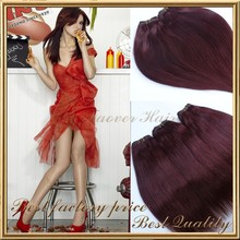 100 human hair used cheap 3 bundles red brazilian hair weave