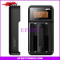 De alta calidad 18650 cargador de batería efest luc v2 lcd cargador universal con pantalla led