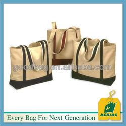 Lightweight Cheap Eco-friendly Cotton Canvas Blank Shopping Tote Bag MJ-VI26