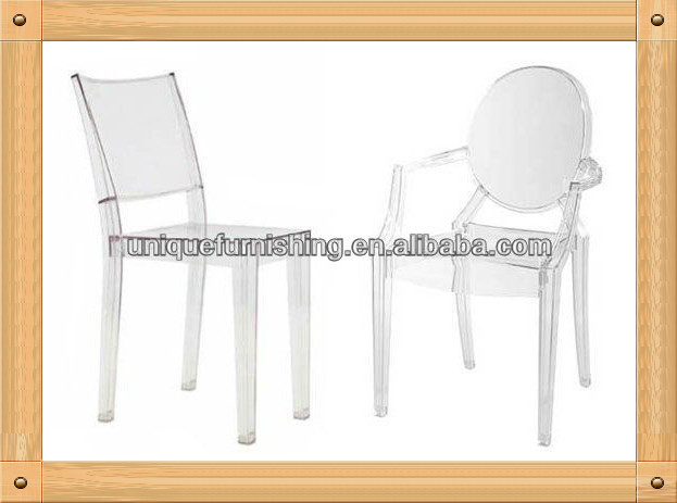 transparent louis en polycarbonate chaise fant me h tel chaise. Black Bedroom Furniture Sets. Home Design Ideas