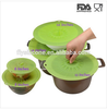 Top-selling FDA LFGB Standard Heat Resistant silicone food storage suction lids