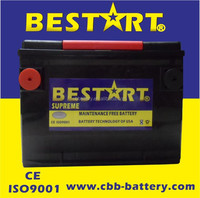 Top quality 650cca BCI 78-MF electric vehicle battery automobile car battery 12V