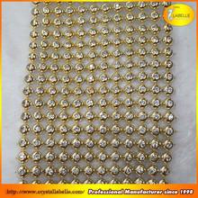 Make It Special Sparkles Gold Diamond Rhinestone Ribbon Wedding Cake Mesh Wrap Trim 10 Yard