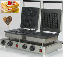 2015 the heart shape and rectangle sandwich toaster waffle maker(you also could choose to change into any shape if we have)