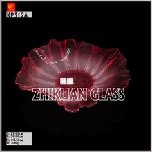 Crystal glass plate customized size for fruit,fruit tray bowl Glassware
