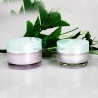 50ml Empty Skin Care plastic packaging Round Acrylic Cream Jar