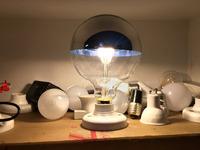 Bulbrite 25G16HM Half mirror G80 Globe Shape Light Bulb mirror with lights around the edge, mirror light bulbs around