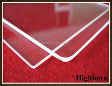 Heat resistant clear pyrex glass window for lighting applications