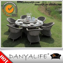 DYDS-R02 Danyalife 2015 Outdoor Living Collection Round Rattan Garden Dining Set