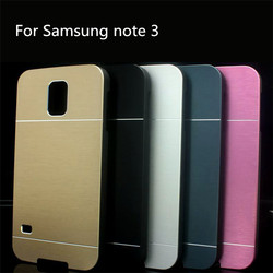 Luxury For Samsung Galaxy Note 3 N9000 Brushed Aluminum PC Hard Cover Case