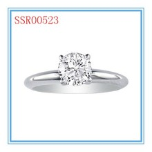 High quality fashion design hot sale diamond solitaire ring