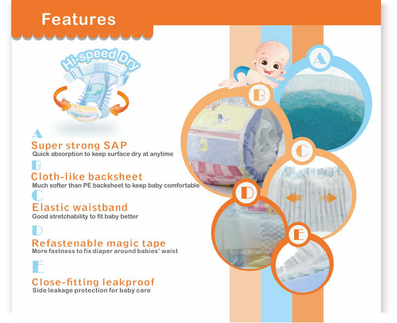 2014 New High Quality Disposable Sleepy Baby Diaper China Wholesale JB001