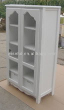 W-CB-4001 white color display cabinet wood storage cabinet