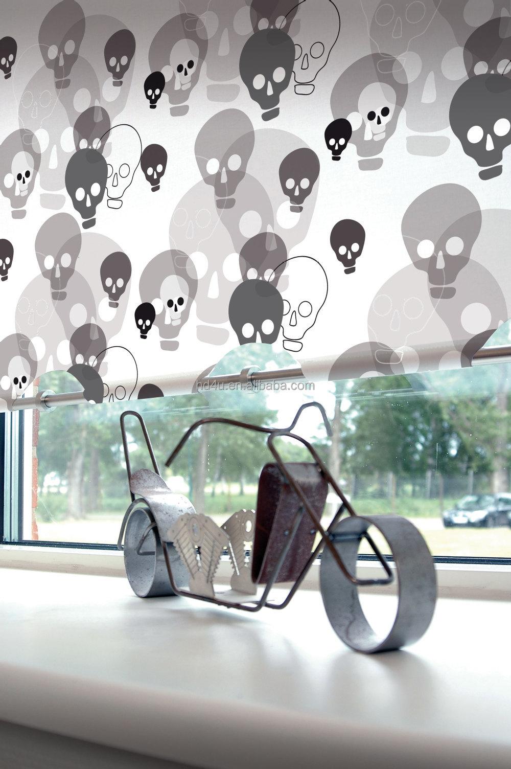 Afgedrukt/digitale print rock stijl schedel ontwerp rolgordijn ...