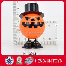 EN71/7P new style Halloween toy plastic wind up pumpkin