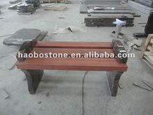 Granite and wood bench