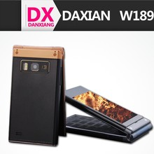 3G Old Man Daxian W189 MTK6572 Dual core Dual Cameras 512MB Ram 4GB Rom Dual Screen Flip Mobile Phone