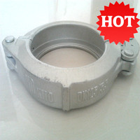 Pipe Fitting Ductile Iron Sand Casting Pipe Fittings Concrete Pump Clamp Coupling