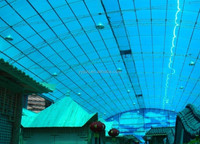 6mm opaque polycarbonate solid sheet for roofing sheet / translucent polycarbonate sheet