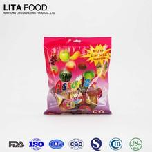 Tasty Beverage 50pcs Bag packaging Assorted Fruit Jelly