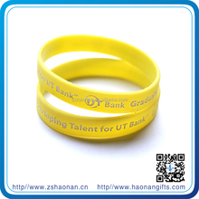 Factory direct sale custom festival brand new silicone wristband for corporate anniversary gifts