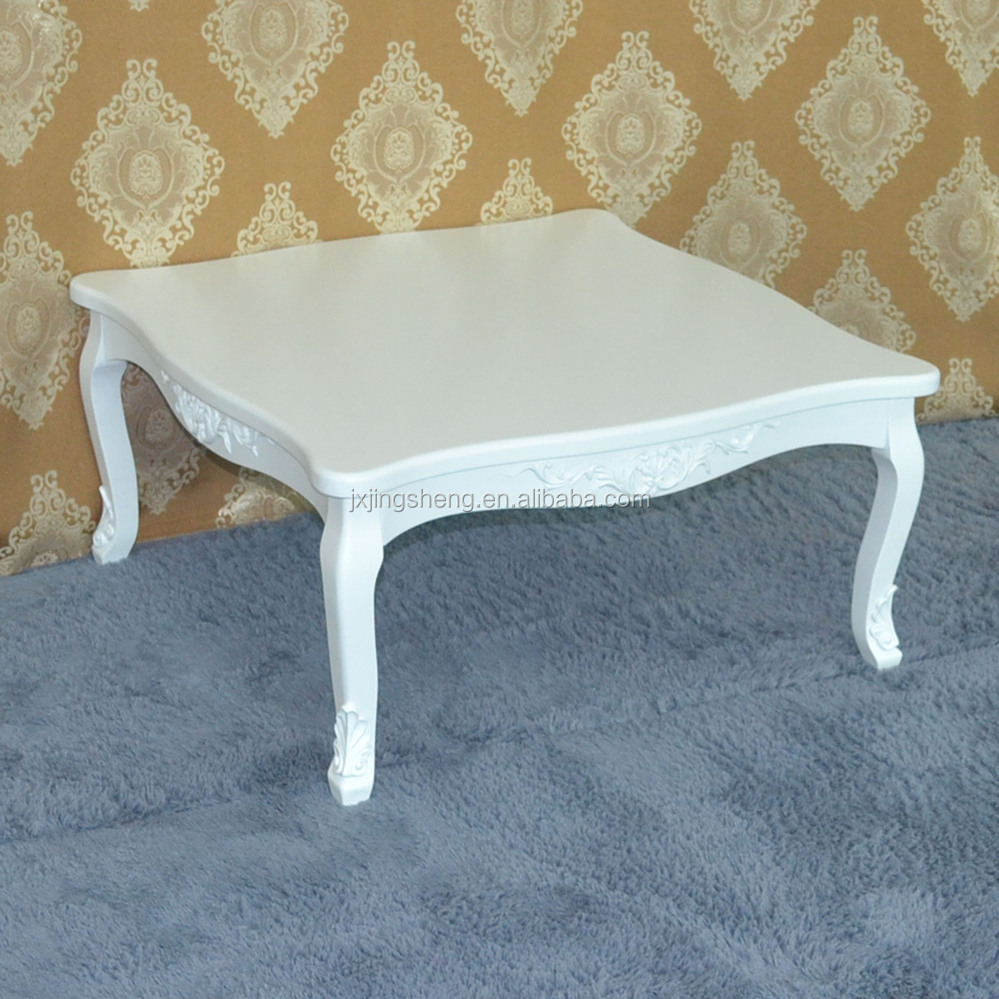Meubles en bois shabby chic moderne blanc oem table basse for Meuble 80x80x40